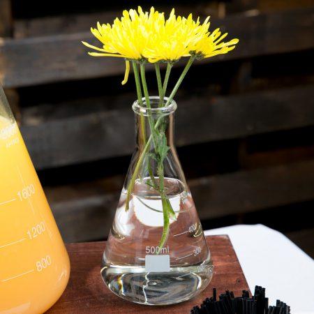 Vaasje erlenmeyer bloem